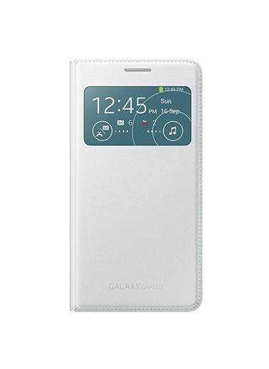 Samsung Samsung G7100 Galaxy Grand 2 Uyumlu Orjinal S View Cover Telefon Kılıfı Renkli